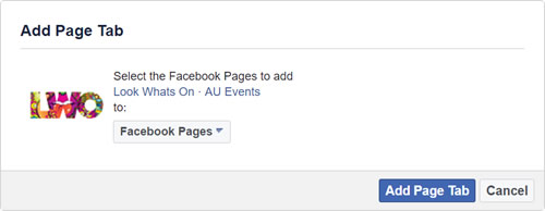 Facebook Page Tab Step 2