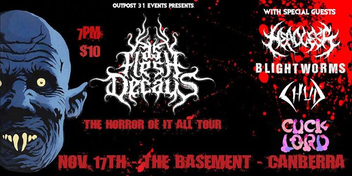 As Flesh Decays - The Horror Of It All in Canberra