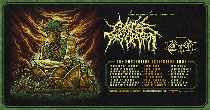 Cattle Decapitation Australian Tour February 2018 w/ Psycroptic
