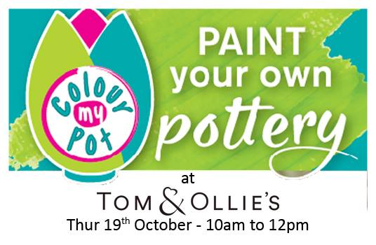 Colour My Pot is coming to Tom & Ollies