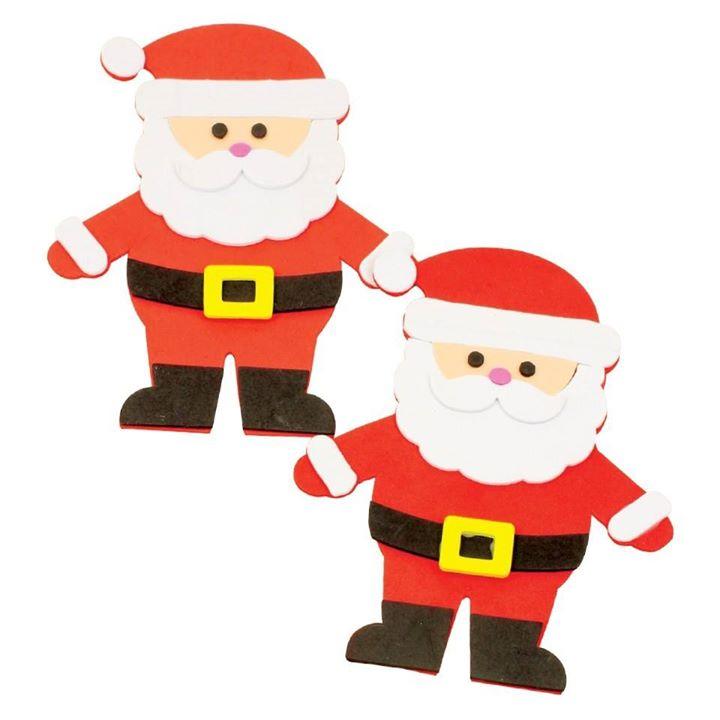 Foam Santas | Free Kids Activity 6+yr olds