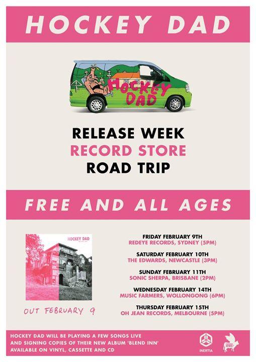 Hockey Dad - Record Store Road Trip - Wollongong