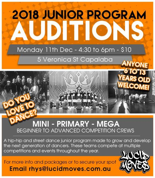 Junior Program Auditions (6-13 years old) - Lucid Moves
