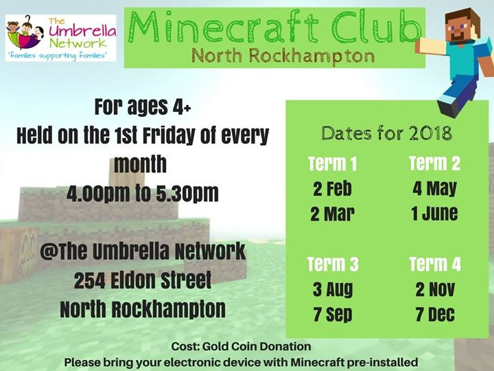 MineCraft Club : Rockhampton