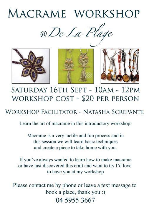 Saturday Workshop: Macrame Jewellery